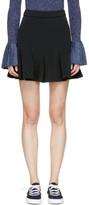 Carven Black Pleated Miniskirt