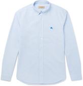 Burberry Slim-fit Button-down Collar Cotton Oxford Shirt - Blue