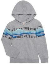 True Religion Little Boy's & Boy's Logo Graphic Heathered Cotton-Blend Hoodie