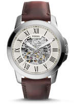 Fossil Grant Automatic Dark Brown Leather Watch