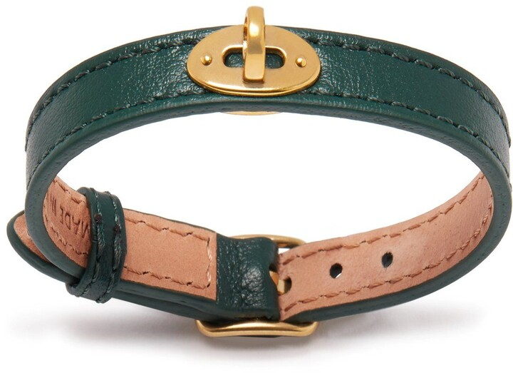 Mulberry Bayswater Thin Bracelet Green Silky Calf