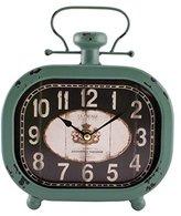 La Crosse Technology La Crosse 404-3425 Distressed Teal Metal Clock