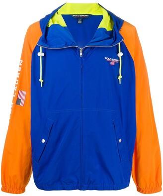 Polo Ralph Lauren Sport Contrast-Sleeve Hooded Jacket