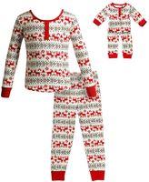 Dollie & Me Girls 4-14 Reindeer Fairisle Pajama Set