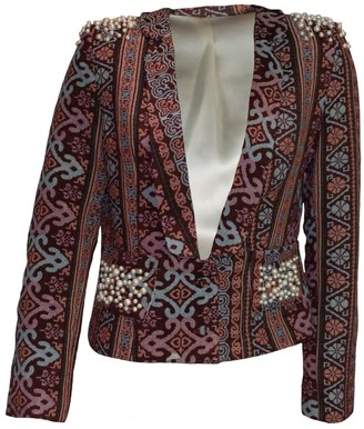 Relax Baby Be Cool Womens Smoking Jacket With Pearl Embroidery