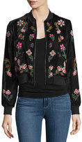 Alice + Olivia Lonnie Embellished Bomber Jacket
