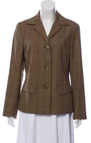 148 Plaid Wool Blazer