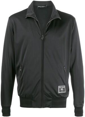 Dolce & Gabbana D.N.A logo patch zipped jacket