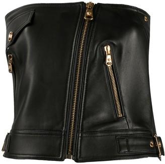 Versace Sleeveless Biker Waistcoat