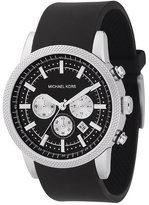 Michael Kors Men's Chronograph Scout Black Polyurethane Strap Watch 45mm MK8040