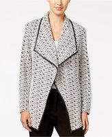 Calvin Klein Printed Open-Front Jacket