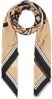 Burberry Archive Scarf Print Cashmere Large Square Scarf