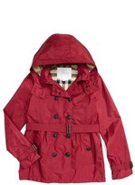 Burberry Girl's 'Grangemoore' Hooded Trench Coat