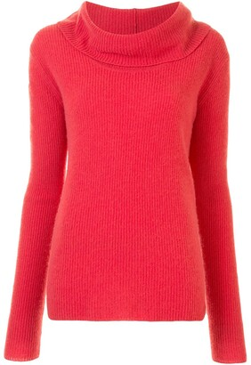Sally LaPointe Cowl-Neck Jumper