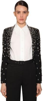 Givenchy Embellished Wool Crepe Bolero Jacket
