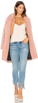 Maison Scotch Teddy Bear Cocoon Faux Fur Coat