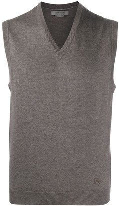 Corneliani Fine Knit V-Neck Vest
