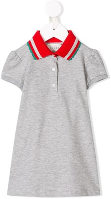 Gucci Kids contrast collar polo dress