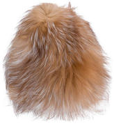 Yves Salomon Fox Fur Beanie w/ Tags