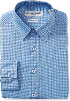 Nick Graham Everywhere Men's Alternation Diamonds Print Dress Shirt
