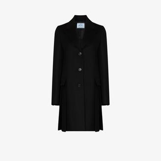 Prada Pleated Virgin Wool Coat