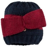 MonnaLisa Navy and Red Knitted Beanie