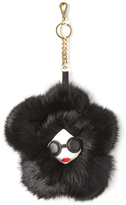 Alice + Olivia Stace Face Fur Flower Charm