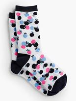 Talbots Overlapping Cherries Trouser Socks