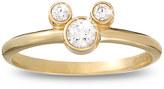 Disney Diamond Mickey Mouse Ring - 18K Yellow Gold