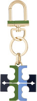 Tory Burch Striped logo resin keyring