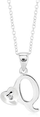 Rhona Sutton 4 Kids Children Initial Heart Pendant Necklace in Sterling Silver