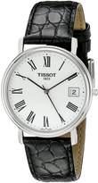 Tissot Men's T52142113 T-Classic Desire Leather Dial Watch