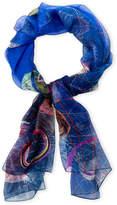 Christian Lacroix Printed Silk Shawl