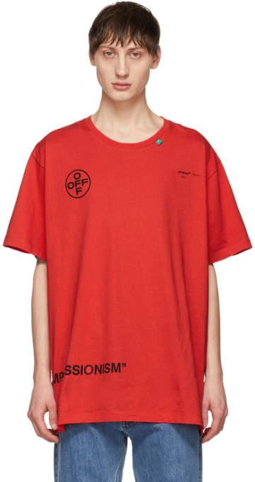Off-White Red Stencil T-Shirt