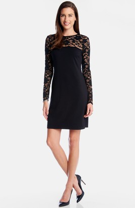 Karen Kane Blake Long Sleeve Lace Cocktail Dress