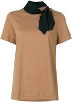 Marni tied neck T-shirt - women - Cotton - 44