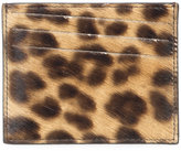 Maison Margiela leopard print cardholder - men - Calf Leather/Calf Hair - One Size