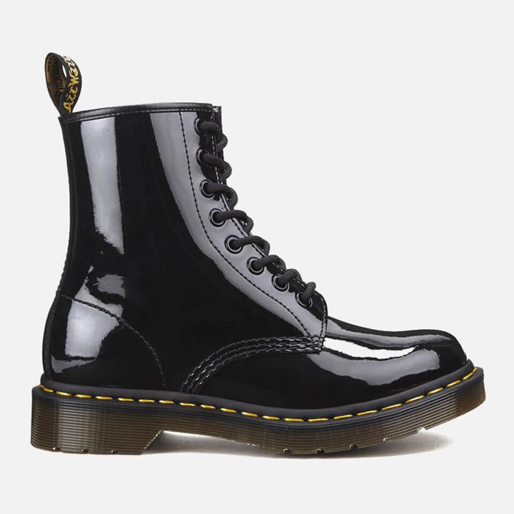 black dr marten style boots