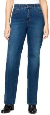 Gloria Vanderbilt Petite High-Rise Relaxed Straight-Leg Jeans, in Petite & Petite Short