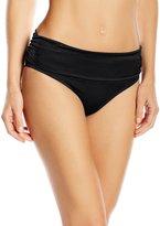 Pour Moi? Pour Moi Azure Fold-Over Bikini Bottom