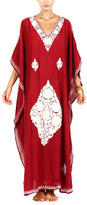 Pas Pour Toi Red Embroidered Kaftan