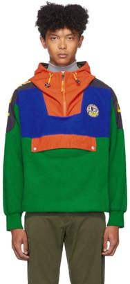 Polo Ralph Lauren Green Fleece Half-Zip Hoodie