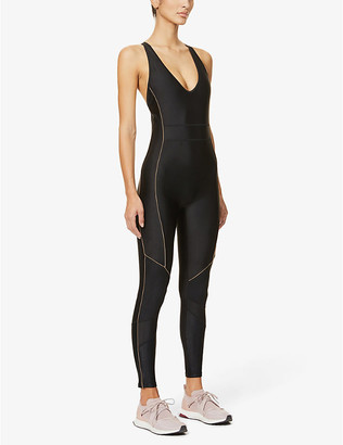 P.E Nation Drive Force stretch-jersey jumpsuit