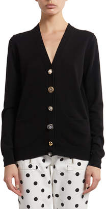 Marc Jacobs The The Jeweled Button Cardigan