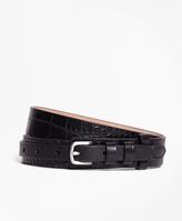 Brooks Brothers Embossed Leather Belt