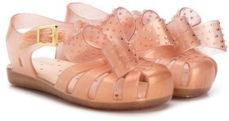 Mini Melissa Studded Bow Detail Jelly Shoes