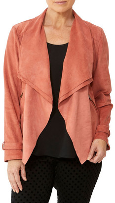 PINGPONG Waterfall Faux Suede Jacket
