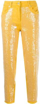 Blumarine sequinned jeans