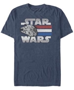 Fifth Sun Men's Star Wars Red White Blue Stripes Falcon Short Sleeve T-shirt