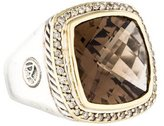 David Yurman Two-Tone Smoky Quartz & Diamond Albion Ring